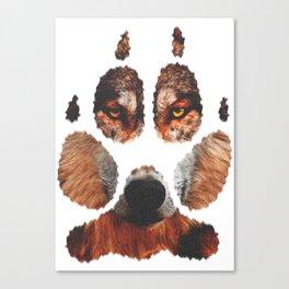 Wolf paw Canvas Print