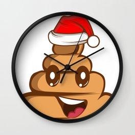 Poo Kot Smiley Funny Christmas Free Gift Wall Clock