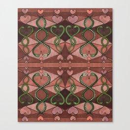 WOVEN SNAKE HEARTS II Canvas Print