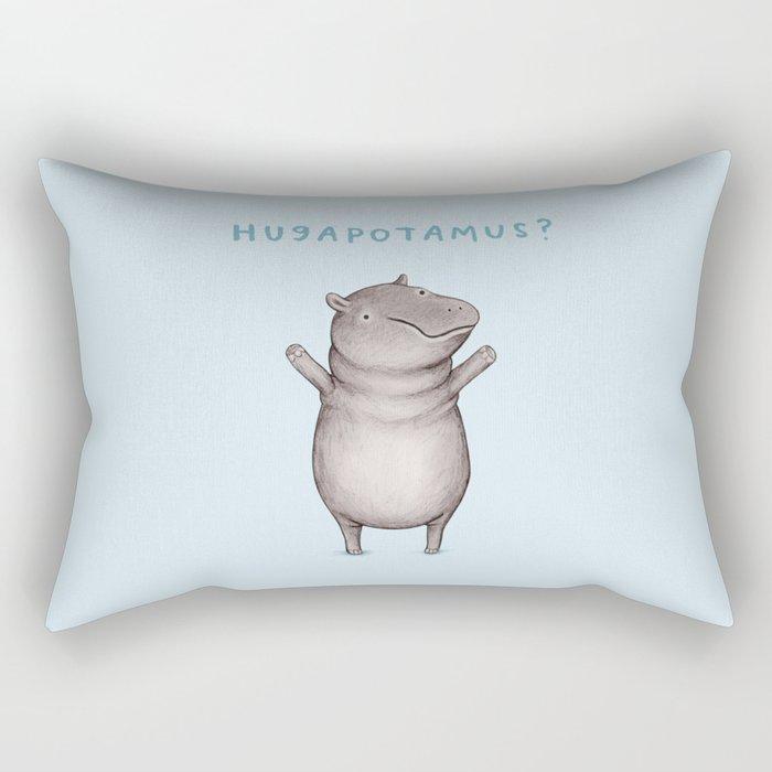 Hugapotamus? Rectangular Pillow