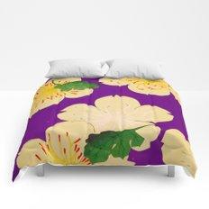 Purple Japanese Floral Vintage Pattern Comforters