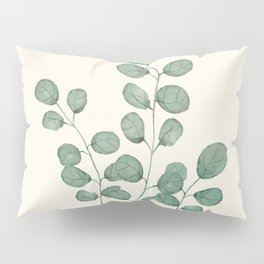 Watercolor Eucalyptus Pillow Sham