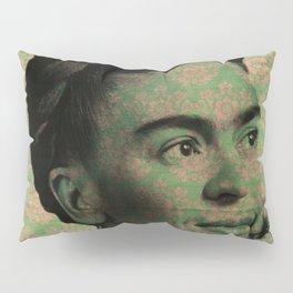 Green Frida Kahlo Pillow Sham