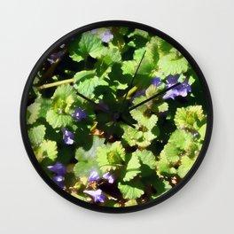 Ground Ivy 06 Wall Clock