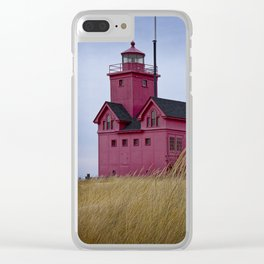 The Lighthouse Big Red in Holland Michigan Clear iPhone Case