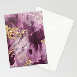 Pink, Purple and Gold Abstract Glam Stationery Cards