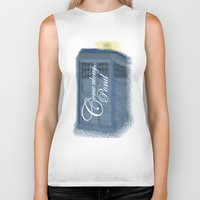 amy pond Biker Tanks featuring Come Along, Pond by colleencunha