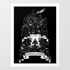 School of Witchcraft and Wizardry Art Print