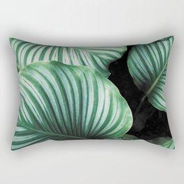 Tropical Jungle Leaves Rectangular Pillow