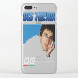 Louis Theroux 90s Blue Clear iPhone Case