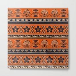 Greek antique fine pattern. Greek ornamental art. Metal Print
