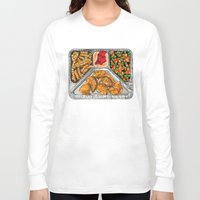 eat Long Sleeve T-shirts featuring Eat Me by Rachel Caldwell
