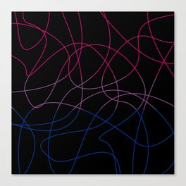 Abstract Threads – Bisexual Pride Flag Canvas Print