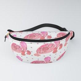 Pink Turtle Salutations Fanny Pack