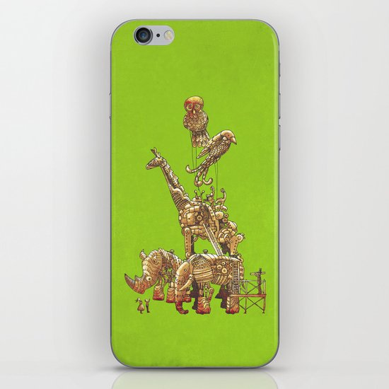 The Clockwork Menagerie (Lime) iPhone & iPod Skin