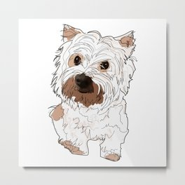 Lolo, West Highland Terrier Metal Print
