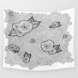 Dotted Floral Wall Tapestry
