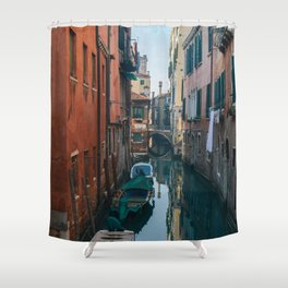 Canal in Venice, Italy   Travel Photography   Europe Shower Curtain