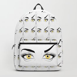 Golden Eyed Woman Disapproval Backpack