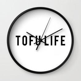 TOFU LIFE Black Wall Clock