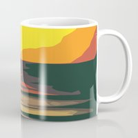 sunrise Mugs featuring Sunrise by Nuam
