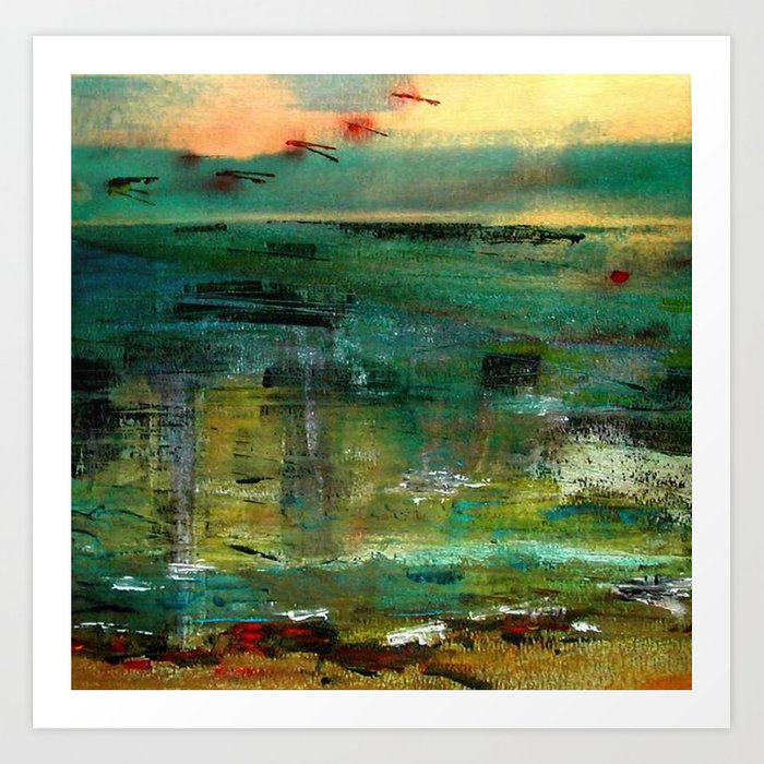 between sky and sea Art Print
