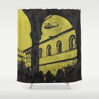 milan Shower Curtains featuring Milan 4 by Anand Brai
