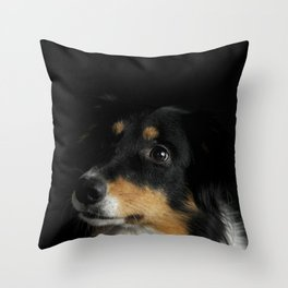 Border Collie Portrait - Panda Throw Pillow