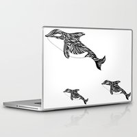orca Laptop & iPad Skins featuring Orca by Kate Shea