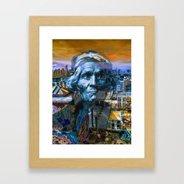 Ghost Tribe Native Americans in New York Blue Framed Art Print