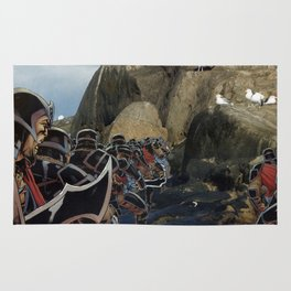 Imperial Death March  - Vintage collage Rug
