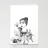 frida kahlo Stationery Cards featuring Frida Kahlo by eva vasari