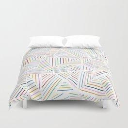 Ab Linear Rainbowz Duvet Cover