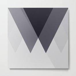 Sawtooth Blue Grey Metal Print