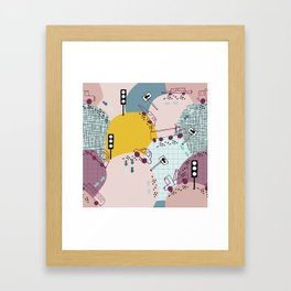 Four wheels Pink #homedecor Framed Art Print