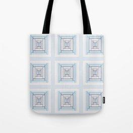 Modern Life Mauve Blue (large pattern) Tote Bag