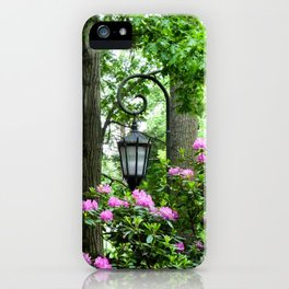 Lamppost Pink iPhone Case