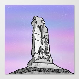 Castle Rock Castleton Tower Canvas Print