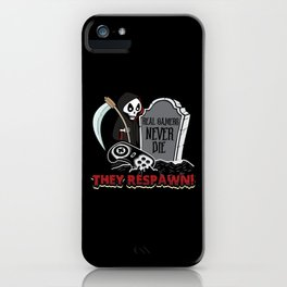Horror Halloween Controller Respawn Dying iPhone Case