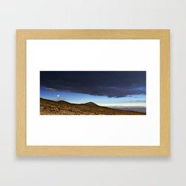 Moon Over The Slopes Of Mauna Kea Framed Art Print