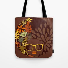 Afro Diva : Sophisticated Lady Retro Brown Tote Bag