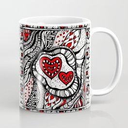 red heart Coffee Mug