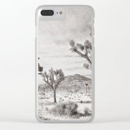Joshua Tree Grey By CREYES Clear iPhone Case