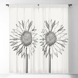 Flower wall print, Botanical wall art, Sunflower print, Floral wall prints, Botanical photo, Digital Blackout Curtain