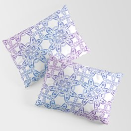 Gradient Snowflake Pattern Pillow Sham