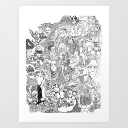 EPIC 25 Doodle art Art Print