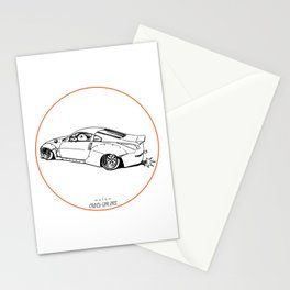 Crazy Car Art 0200 Stationery Cards
