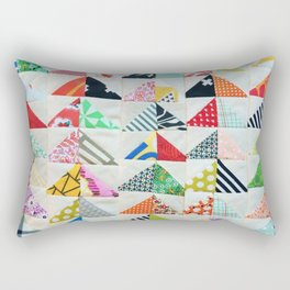 Flying Geese Quilt Pattern Rectangular Pillow