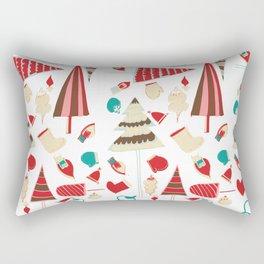 Vintage Christmas white Rectangular Pillow
