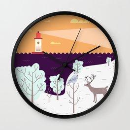Wild Light Wall Clock